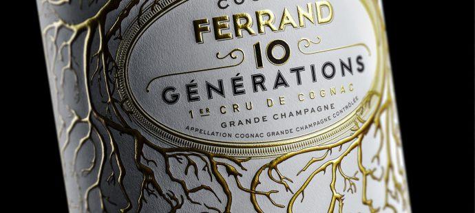 Etiquette Cognac 10 générations